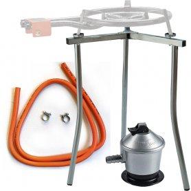 Paellero Kit (supporto + Regolatore + tubo)