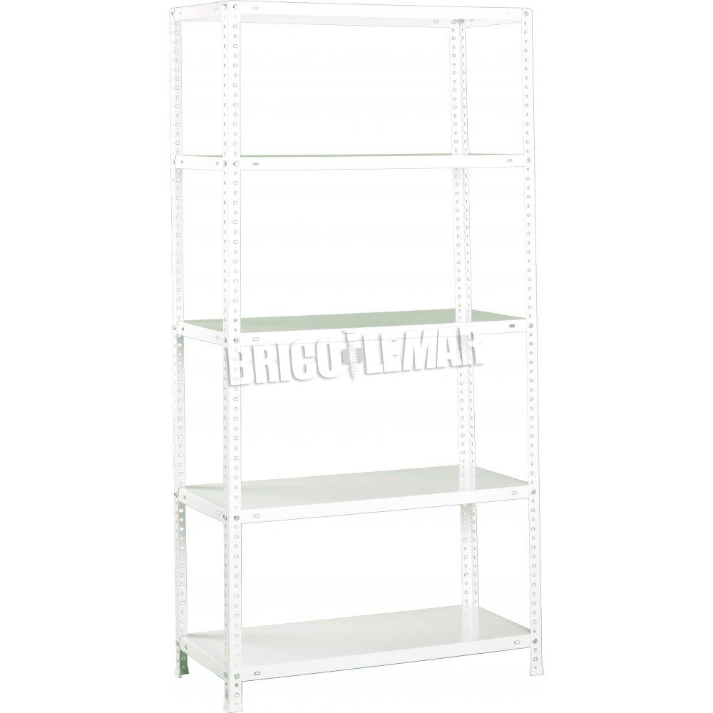 Ripiani Scaffalature Metalliche.Bianco Scaffalature Metalliche Kit 5 Ripiani Comfort Plus 5 400 Simonrack