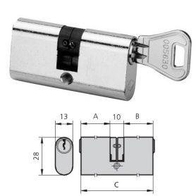 OVALE CILINDRO ottone nichelato 5963/3030/4 CVL