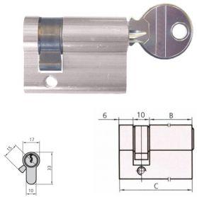 NORMALE CILINDRO Europerfil 5982T50 / 4 gancio destro LONG ottone CVL