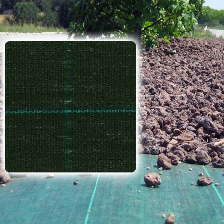 Verde-nero della maglia antihierba Agritex 1,05x100m Intermas