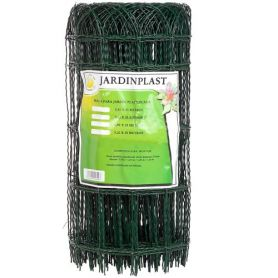 0.65x25m maglia plastificato giardino verde scuro Central de Enrejados