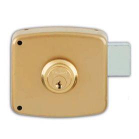 Rim serratura Ezcurra 1124 oro dipinto a destra 100 millimetri