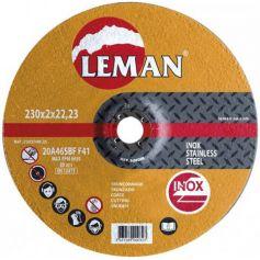 disco di taglio in acciaio inox Leman 230 Gamma Arancione