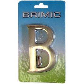Lettera B 100 millimetri porta in ottone lucido Micel