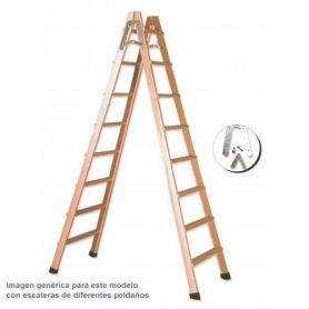 scala a pioli di legno 5 passi