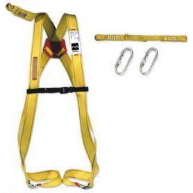 Protezione anticaduta cablaggio dorsale + tie + 2 moschettoni