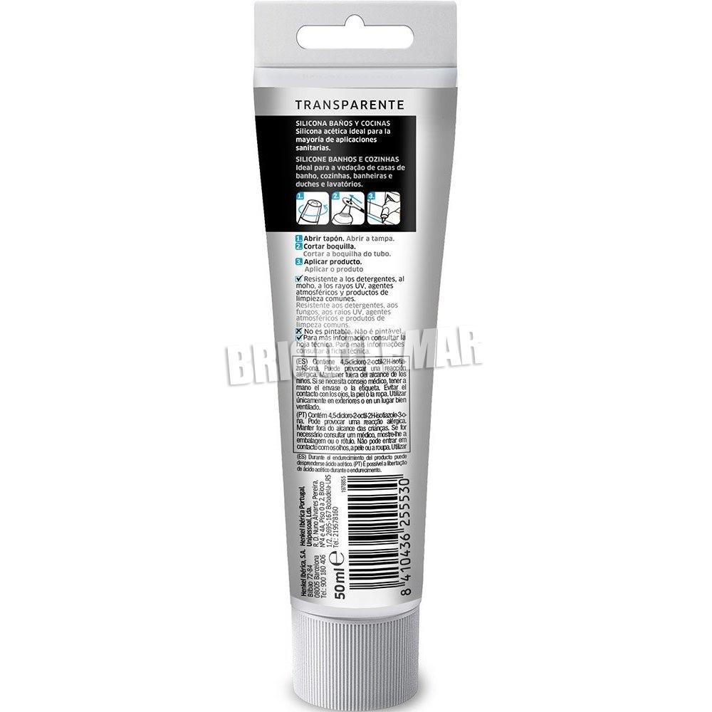 Pattex silicone transparant 50ml badkamer en keuken Henkel