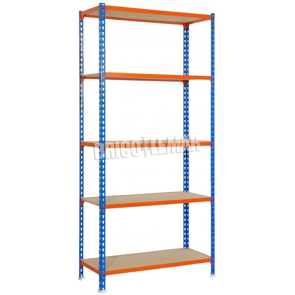 Metalen Rekken Kelder.Blauw Oranje Metalen Rekken 5 Hout Houten Planken Maderclick Kit Plus 5 500 Simonrack