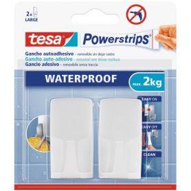 Tesa Powerstrips haak wit plastic met lijm