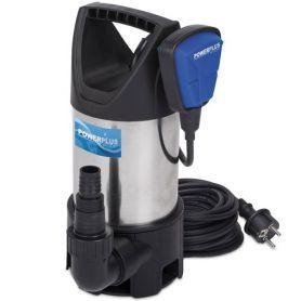 900w água suja bomba submersível PowerPlus 1x230V inoxidável