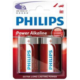 bateria LR20 alcalina Energia Alcalina Philips (2 unidades