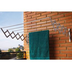 Acordeon rack de secagem ac-100 de alumínio 100x23x71 cm cuncial