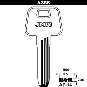 chave modelo de segurança latão AZ-14 (caixa de 50 unidades) JMA