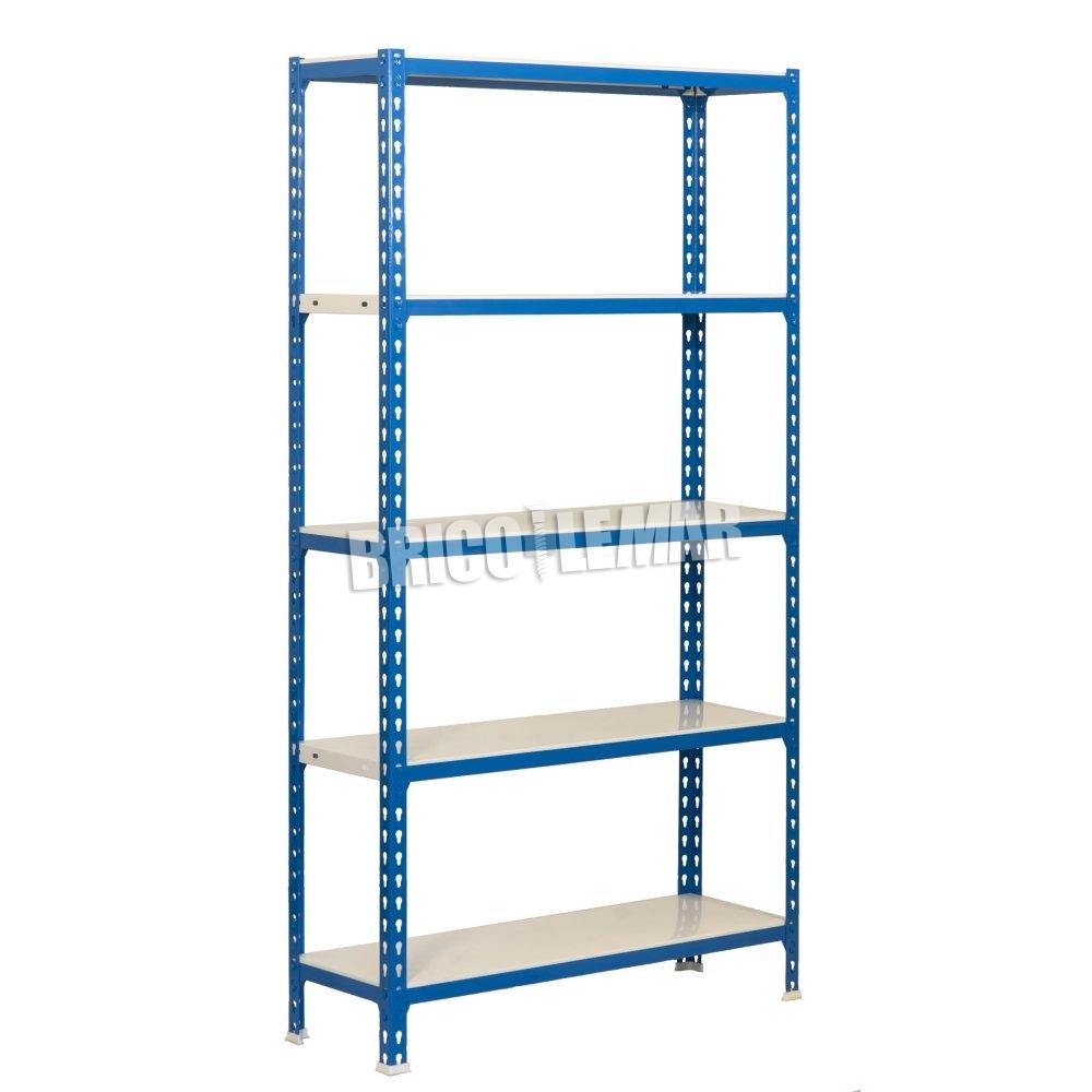 Estantes Metalicas.Azul Estantes Metalicas Branco 5 Prateleiras Simonclick Kit Alem Disso 5 400 Simonrack