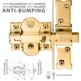 Fac deadbolt preço antibumping 946-rp / 80 ouro vee preço