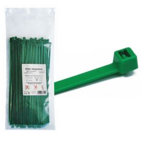 100x2.5 green nylon bag flange 100 units MercaTools