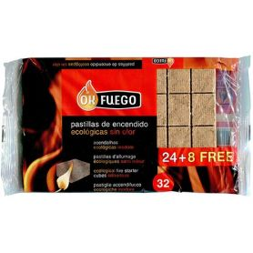 Ecological firelighters 24 + 8 units OKFuego