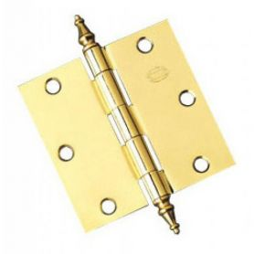 1011 101,6x101,6x2 hinge model varnished brass (1 pair) Amig