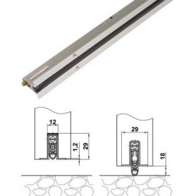Weatherstrip Model 1 Amig 1000mm stainless aluminum