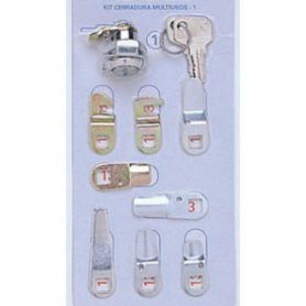 Kit No. 1 chromium blister locks 7 tabs BTV