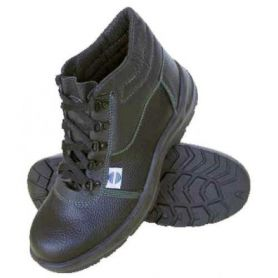 Safety boot size 45 black leather lace - SA-9951 Chintex