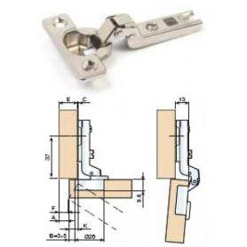 26/8 mesuco elbowed plate hinge plane Cufesan