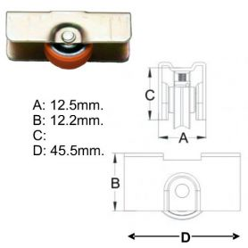 INASA wheel bearing small metal Cufesan
