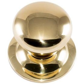 70mm smooth door knob polished brass Micel