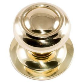 Door knob polished brass rings 70mm Micel
