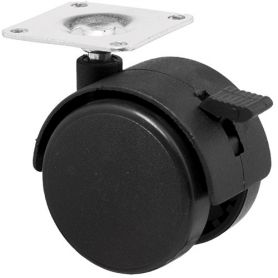 40mm wheel for furniture with plate and brake Nina Decor Series range Cascoo
