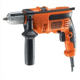 710W hammer drill with black briefcase decker