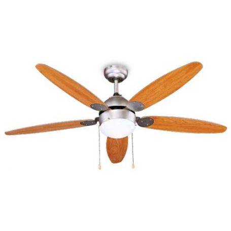 Ceiling Fan With Light Wooden Blades 5 Garsaco Bricolemar