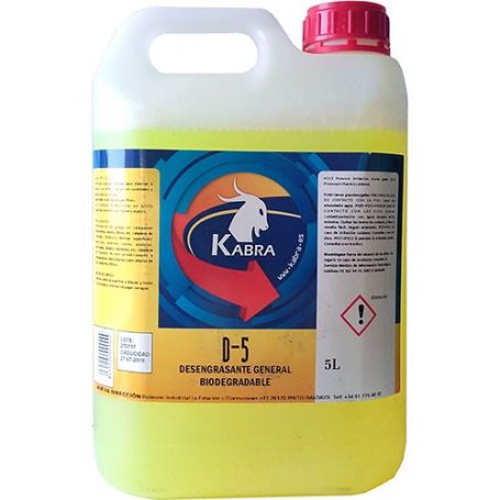 Degreaser biodegradable generally D-5 5 liters Kabra