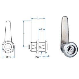 chromium triangular lock aga