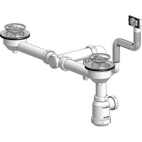Buy Double Sink Drain 115 Saving Space Tecnoagua