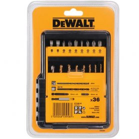 Game pieces 36 for screwing and drilling DeWalt