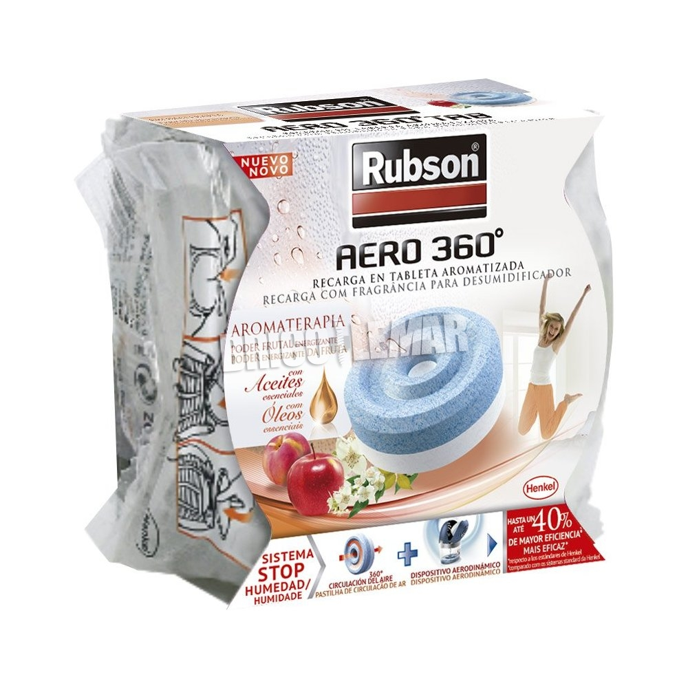 rubson recharge dehumidifier 360 aero fruit 450g henkel. Black Bedroom Furniture Sets. Home Design Ideas