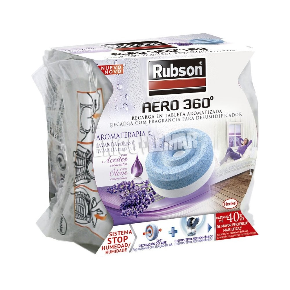 dehumidifier recharge rubson aero 360 lavender 450g henkel. Black Bedroom Furniture Sets. Home Design Ideas