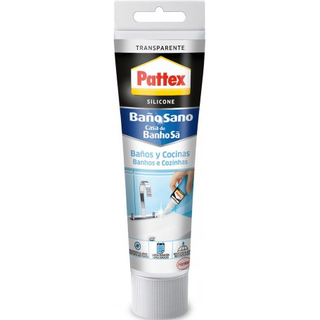 Pattex silicone transparent 50ml bathrooms and kitchen Henkel