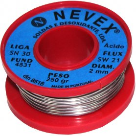 Tin thread w / welding 2mm 2mm acid 70/30 250g Mader