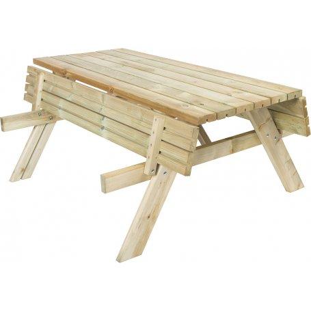 Wooden Folding Picnic Table Benches 200 Gardiun Bricolemar