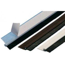 WEATHERSTRIPPING PVC ADHESIVE BRUSH WITH WHITE 100CM GEKO