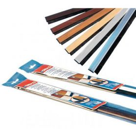 WEATHERSTRIP ADHESIVE BRUSH WITH RIGID PVC DOORS AT WALNUT 100CM GEKO