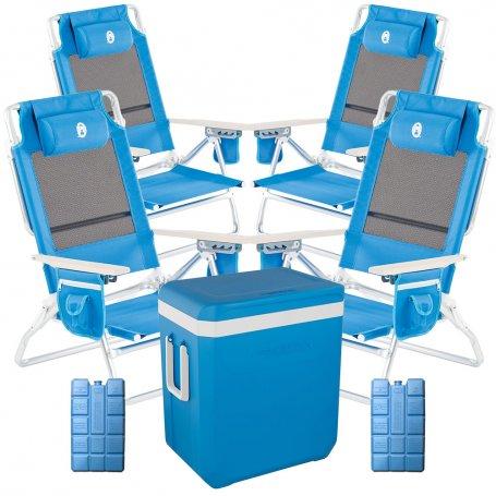 Admirable Pack Outdoor Plus 4 Folding Chairs Recliner Low Icetime Plus 38L 2 Gelpacks Kabra Cooler Uwap Interior Chair Design Uwaporg