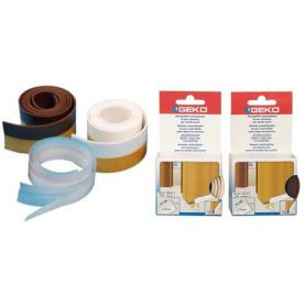 WEATHERSTRIP ADHESIVE WHITE PVC EXPANDED 38MMX100CM GEKO