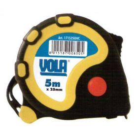 FLEXOMETRO ABS anti - shock rubber 5mx25mm Vola