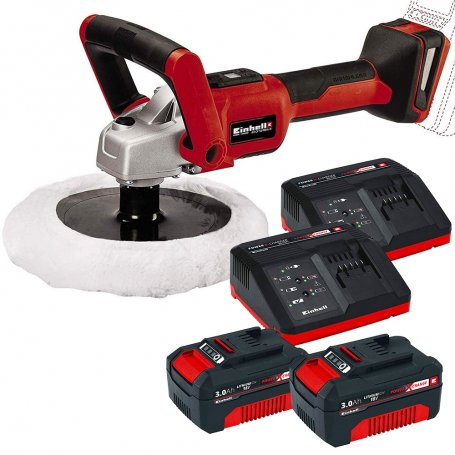 Self-polishing kit-rolling machine CE-CP 18/180 Battery LI E + 18V 3.0Ah 2 batteries + 2 chargers Einhel