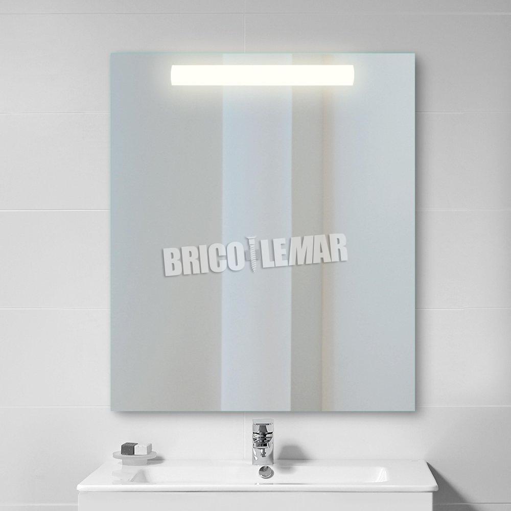 Pegasus Emuca Bathroom Mirror With Led Front Lighting 60x70cm Bricolemar