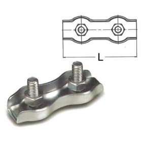 Double flat cable clamp Galvanized 3mm Damesa